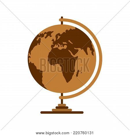 Geography icon. Flat illustration of geography vector icon isolated on white background