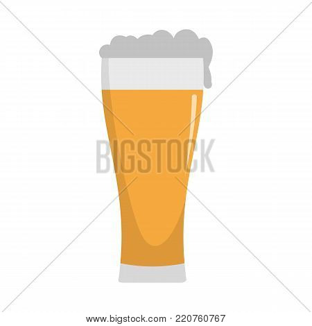 Glass of beverage icon. Flat illustration of glass of beverage vector icon isolated on white background