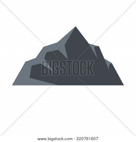Exploration of mountain icon. Flat illustration of exploration of mountain vector icon isolated on white background