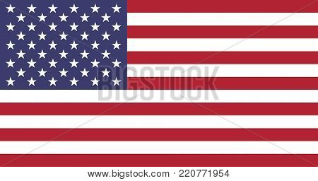 Flag of United States of America  oficial colors and proportions