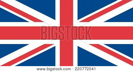 Flag of the United Kingdom oficial colors and proportions