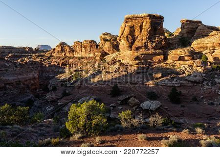 Red Rock Formation Define The Landscape of South Canyonlands National Park, Utah.