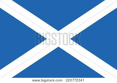Flag of Scotland oficial colors and proportions