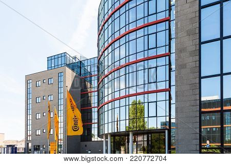 WETZLAR, HESSEN, GERMANY - June 2017 : CONTINENTAL administration building in WETZLAR.  CONTINENTAL is one of the world's leading manufacturers for commercial vehicle tires, based in Hannover, Niedersachsen, Germany.