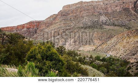 Shell Canyon windin through the Bighorn Mountains in north/central Wyoming