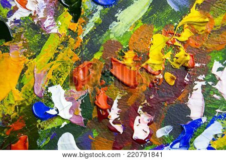abstract painting fragment vector illustration. palette knife marks. Oil on canvas texture canvas art. abstract background. Close-up view