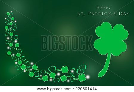 St. Patrick 's Day with shamrocks for background