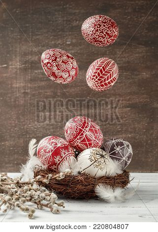 Still Life With Pysanky, Decorated Easter Eggs