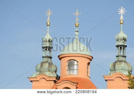st lawrence church towers Petrin Prague Czech Republic