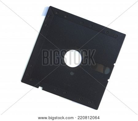 5 25 inch Floppy disk placed side by side flip isolated on white background