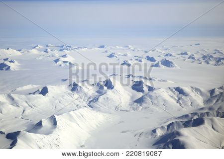 Aerial View of Svalbard Arctic Landscape, Norway