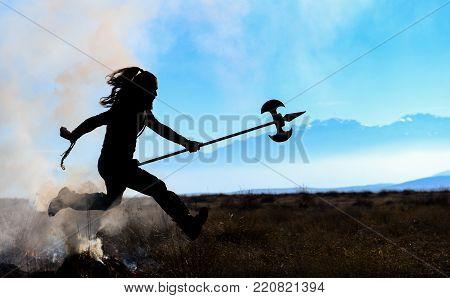 running warrior model & amazing warrior model silhouette