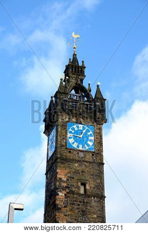 Tolbooth Steeple is one of the few remaining medieval structures left in Glasgow
