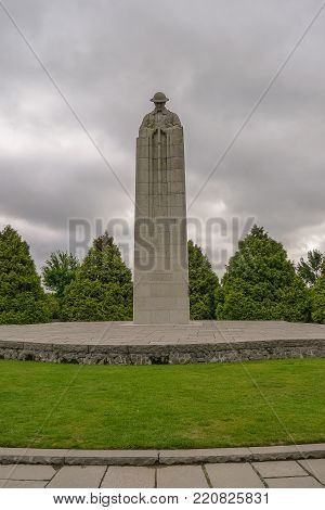 The Ww1 Canadian Memorial Near Ypres