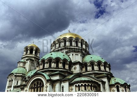 Alexander Nevsky Cathedral Sofia Bulgaria Balkans Europe
