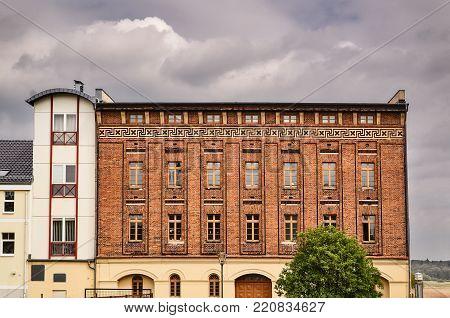 neo-gothic red brick building in Frankfurt / Oder