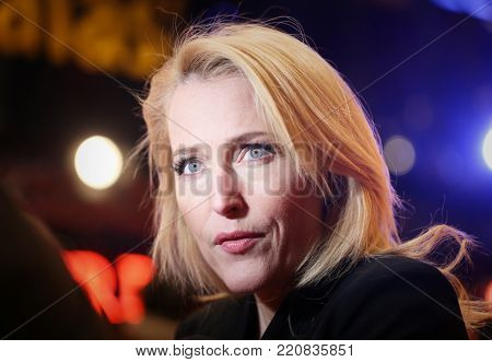 Gillian Anderson attends the 'Viceroy's House' premiere during the 67th Berlinale International Film Festival Berlin at Berlinale Palace on February 12, 2017 in Berlin, Germany