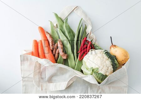 organic vegetables in the bag