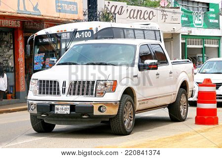 Oaxaca, Mexico - May 25, 2017: Pickup truck Lincoln Mark LT in the city street.