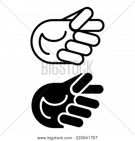 Gesture of contempt. Fig symbol isolated on white background. Eps 10