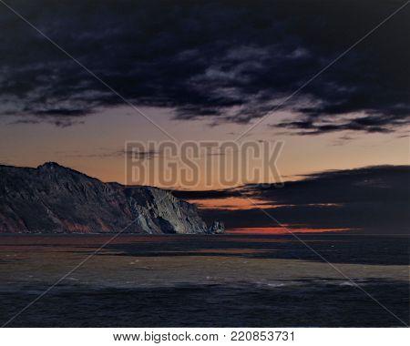 Landscape in nature,landscape shot,long exposure of nature,natures ocean,landscape sunset with threatening clouds,natures cliffs,