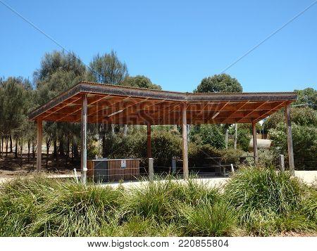 Public BBQ facility  in an Australian Park
