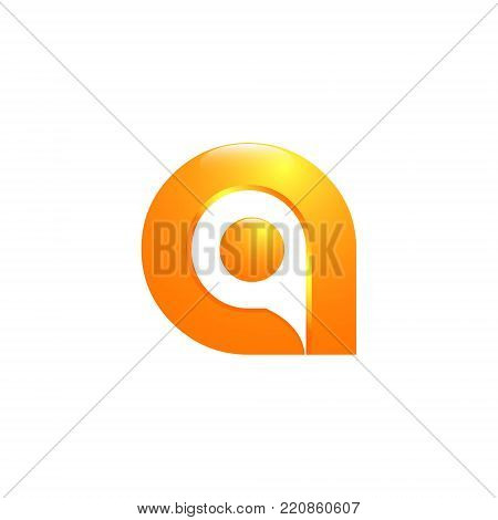 3D letter A lowercase Initial alphabet Logo design Template. Good typeset for technology and production concepts. Transparent shadow, EPS 10 vector illustration