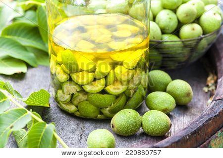 walnut alcoholic liqueur