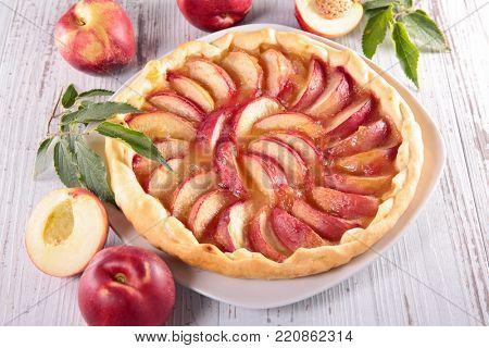 homemade peach cake