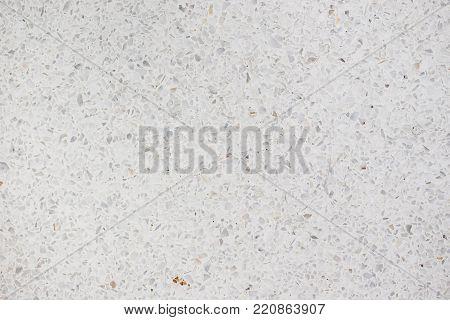 Indoor basic white grannite floor surface background.