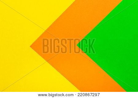 Green orange and yellow color paper texture background. Trend colors, geometric paper background. Colorful of soft paper background.