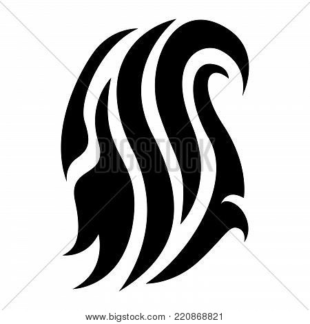 Abstract tribal vector design . black tribal vector isolated on white background. Tribal tattoo creative vector design
