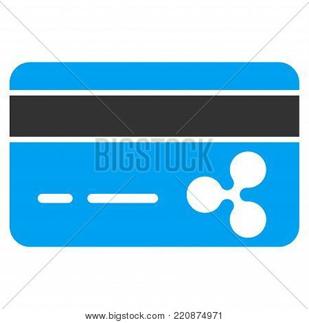 Ripple Banking Card flat vector icon. An isolated ripple banking card icon on a white background.
