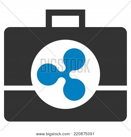 Ripple Business Case flat vector icon. An isolated ripple business case design element on a white background.