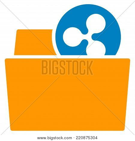 Ripple Folder flat vector icon. An isolated ripple folder illustration on a white background.