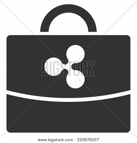 Ripple Accounting Case flat vector icon. An isolated ripple accounting case pictogram on a white background.