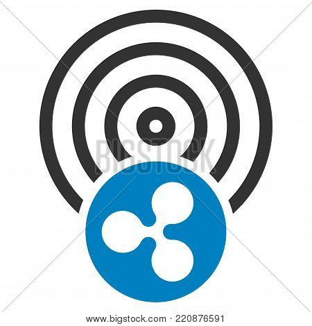 Ripple Airdrop flat vector icon. An isolated ripple airdrop pictogram on a white background.