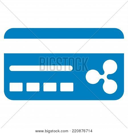 Ripple Banking Card flat vector icon. An isolated ripple banking card design element on a white background.