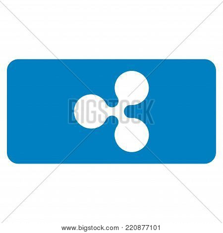 Ripple Bill flat vector icon. An isolated ripple bill illustration on a white background.