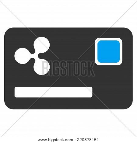 Ripple Credit Card flat vector icon. An isolated ripple credit card illustration on a white background.