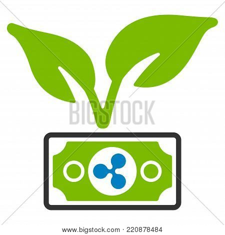 Ripple Eco Startup flat vector icon. An isolated ripple eco startup design element on a white background.
