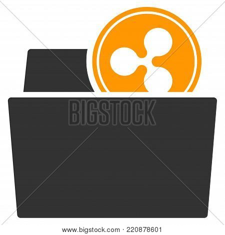 Ripple Folder flat vector icon. An isolated ripple folder icon on a white background.