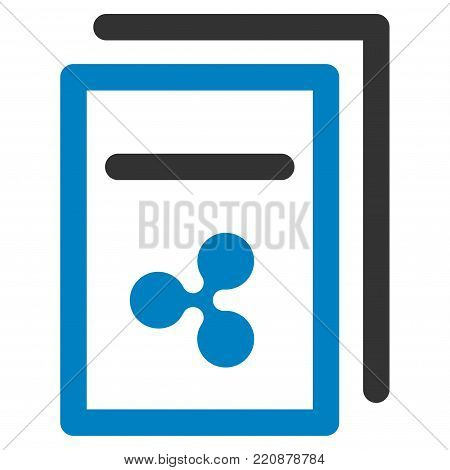Ripple Invoices flat vector icon. An isolated ripple invoices illustration on a white background.