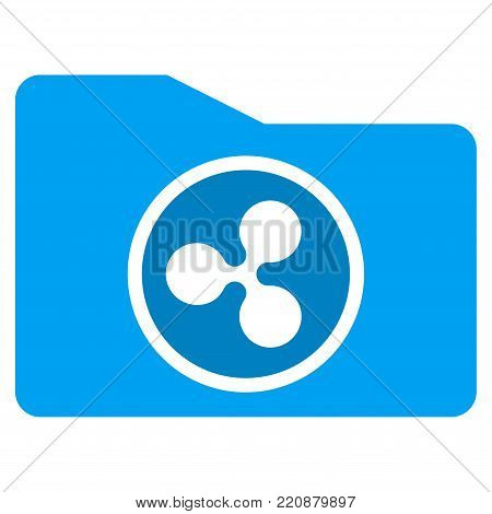Ripple Purse flat vector icon. An isolated ripple purse pictogram on a white background.