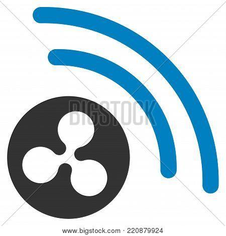 Ripple Radio Signal flat vector icon. An isolated ripple radio signal icon on a white background.