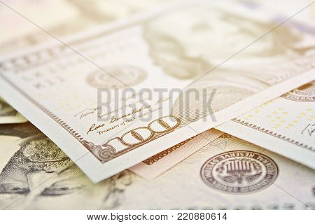 Business, finance, investment or money exchange concept : American Dollars cash money on white background