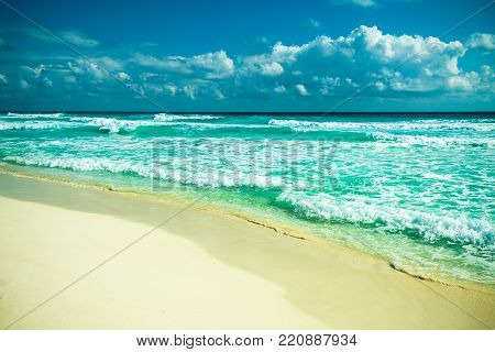 Highly detailed image of Cancun beach, Mexico