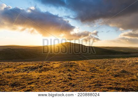 Sunrise at Brown Willy Tor, Bodmin Moor, Cornwall, UK