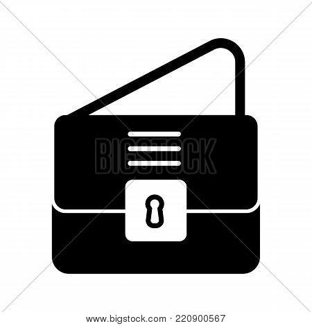 Backpack or bag with shoulder strap. vector icon. eps 10