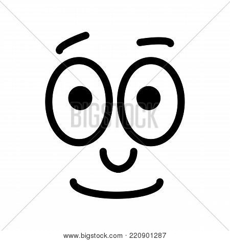 Vector neutral smiley. Indifference emotione line design. eps 10